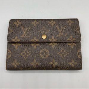 Authentic Louis Vuitton monogram snap wallet